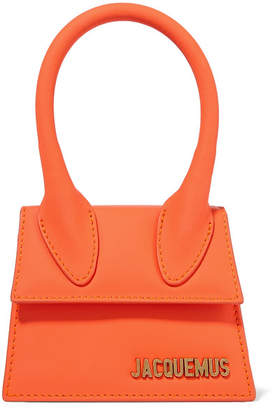 Jacquemus Le Chiquito Mini Leather Tote - Bright orange
