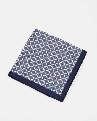Ted Baker LARCH Geo print silk pocket square