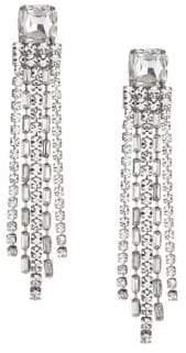 Kate Spade Glitzville Bejeweled Fringe Chain Earrings