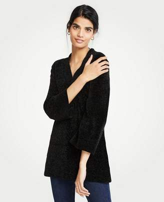 Ann Taylor Petite Chenille V-Neck Tunic Sweater