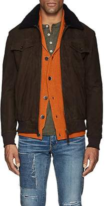 Barneys New York Lot 78 x Men's Sherpa-Trimmed Suede Jacket
