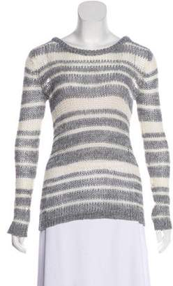 Rag & Bone Open Knit Striped Sweater Grey Open Knit Striped Sweater
