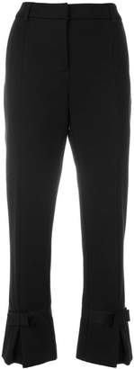Class Roberto Cavalli cropped bow trousers