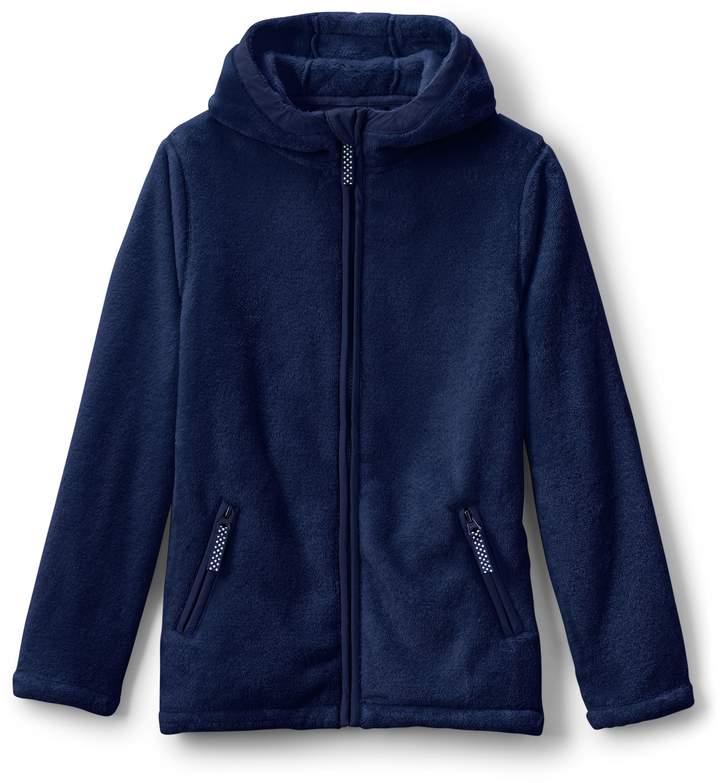 Lands'end Little Girls Softest Fleece Jacket
