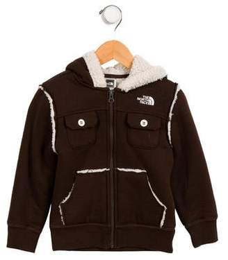 The North Face Girls' Fleece-Lined Logo Hoodie