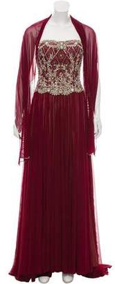 Terani Couture Strapless Embellished Dress w/ Tags