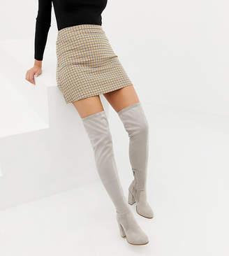 04185332750 Asos Design DESIGN Wide Fit Kassidy heeled over the knee boots