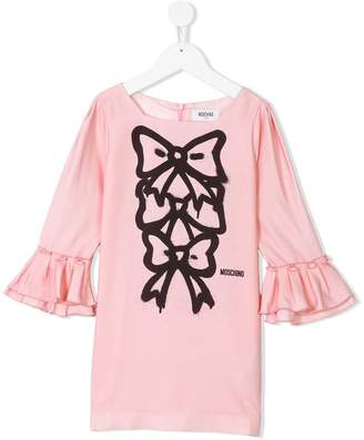 Moschino Kids bow front dress
