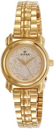 Titan Analog Off-White Dial Women's Watch-2534YM04