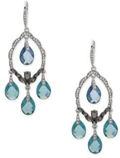 Jenny Packham Crystal Faceted Chandelier Earrings