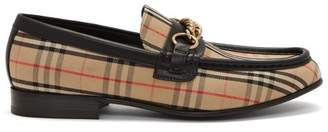 Burberry Moorley House Check Loafers - Womens - Black Beige