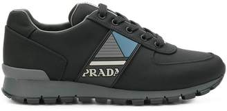 Prada side logo lace-up sneakers