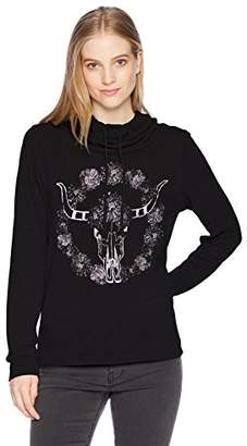 Fifth Sun Women's Desert Dream Graphic Long Sleeve Cowls Top