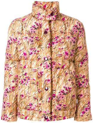 Prada floral print puffer jacket