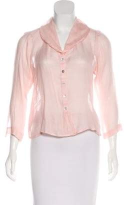 Ralph Lauren Lightweight Button-Up Top