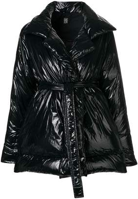 Bacon belted padded coat