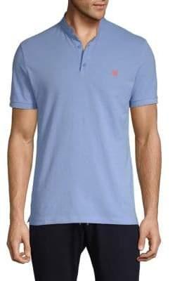 Mandarin Collar Cotton Polo