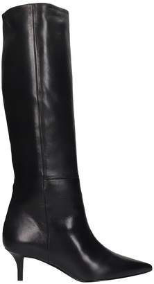 Marc Ellis Boots In Black Leather