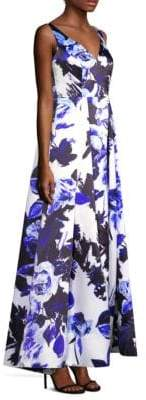 Adrianna Papell Floral Sleeveless Gown