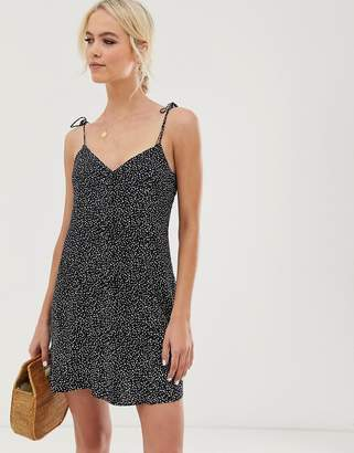 And other stories &  polka dot mini cami dress in black