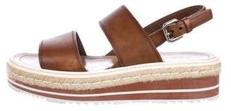 Prada Flatform Espadrille Sandals
