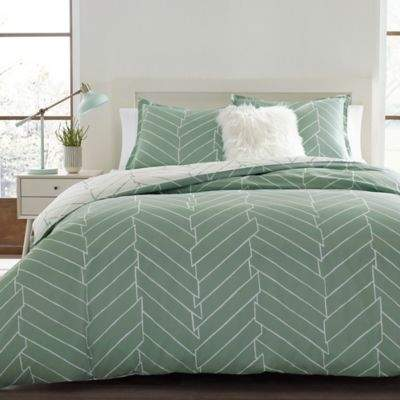 City Scene Ceres 2-Piece Reversible Twin Comforter Set in Green