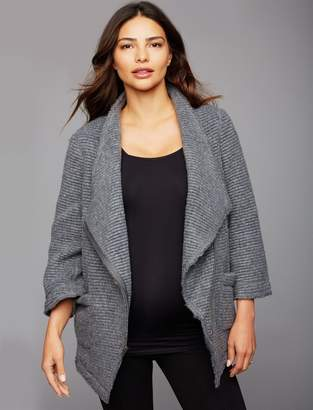A Pea in the Pod Bb Dakota Drape Front Cable Knit Maternity Jacket