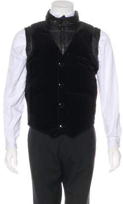 Givenchy Velvet-Trimmed Down Vest