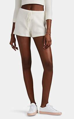 JoosTricot Women's Brushed Stretch-Cashmere Shorts - White