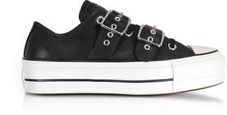 Converse Limited Edition Chuck Taylor All Star Lift Buckle Black Platform Sneakers