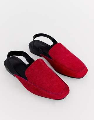 Möve Asos Design ASOS DESIGN Over leather slingback loafers