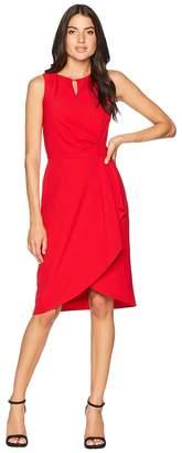 Tahari ASL Side Drape Notch Neck Dress Women's Dress