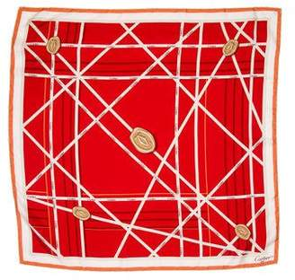 Cartier Silk Monogram Scarf