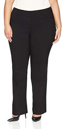 Lark & Ro Women's Plus Size Barely Bootcut Stretch Pant: Comfort Fit