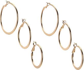 Kelly & Katie Flat Hoop Earring Set - 3 Pack - Women's