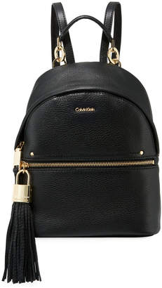 a11b09276f11 Iconic American Designer Lynn Pebble Leather Backpack with Tassel
