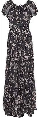 Rebecca Minkoff Kaspit Floral-Print Chiffon Maxi Dress