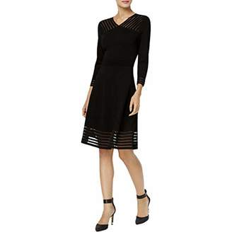 Calvin Klein Women's Sweater Dress with Illusion Hem