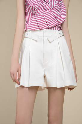 Genuine People Belted High Waist Shorts