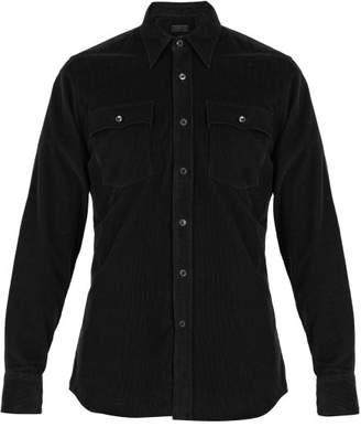 Prada Corduroy Shirt - Mens - Dark Green