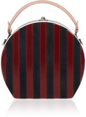 Bertoni1949 Spazzolato and Suede Stripes Bertoncina Bag