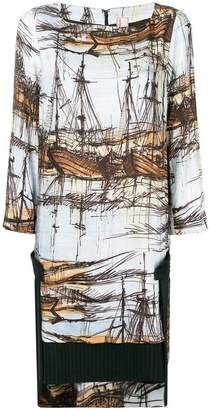 Antonio Marras ship painting patterned dress