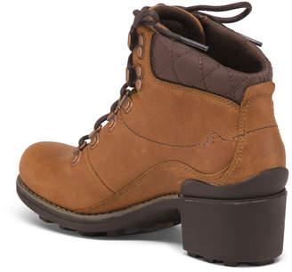 Waterproof Lug Sole Full Grain Leather Boots
