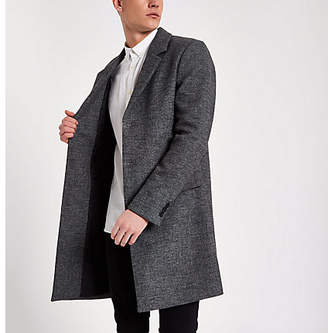 River Island Grey smart tailored wool overcoat
