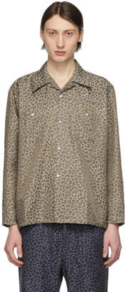 Needles Beige and Brown Leopard One-Up Cowboy Shirt