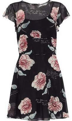 RED Valentino Floral-Print Chiffon Mini Dress