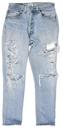 RE/DONE High-Rise Ripped Jeans