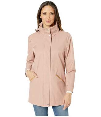 Lauren Ralph Lauren Cotton Anorak with Faux Leather Trim and Hood