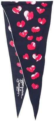 Moschino heart print scarf