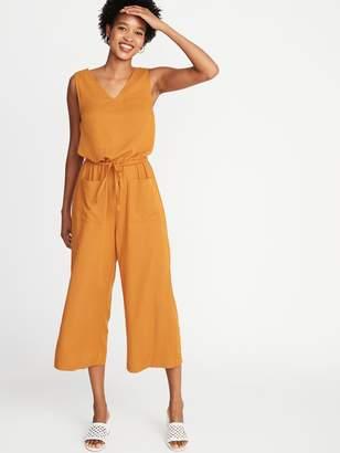 Old Navy Waist-Defined Sleeveless V-Neck Jumpsuit for Women